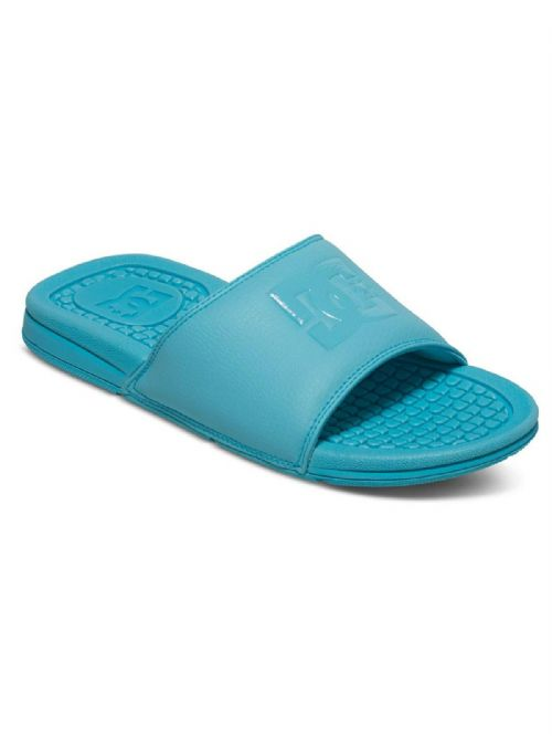 DC SHOES WOMENS SLIDERS.NEW BOLSA AQUA BLUE SLIP ON FLIP FLOP SANDALS 7S 07 AQA
